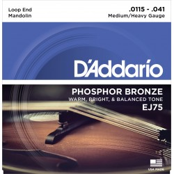 ej75 mandolin strings phosphor bronze medium heavy 115 41