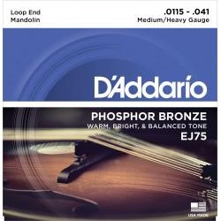ej75 mandolin strings phosphor bronze medium heavy 115 41