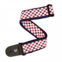 gingham red and navy