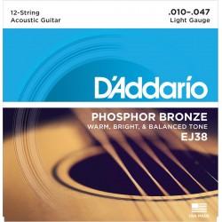 D'Addario EJ38 Phosphor Bronze Light 12 String [10 47]