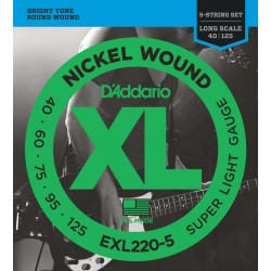 exl220 5 5 string bass super light long scale 40 125
