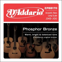 epbb170 phosphor bronze acoustic bass long scale 45 100