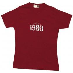 T-shirt mujer ''1983'' S roja P5
