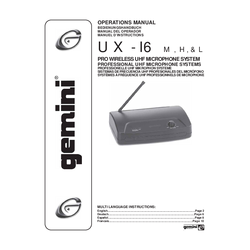 Micrófono Inalámbrico ux16
