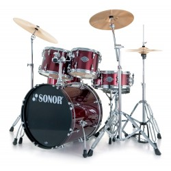 BATERIA SONOR SMART FORCE XTENDED STAGE 1 WINE RED.PLATOS.