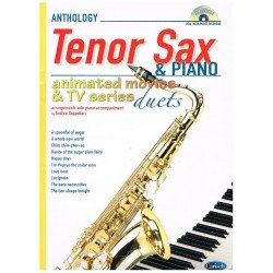 ANTHOLOGY. ANIMATED MOVIES & TV SERIES (SAXO TENOR Y PIANO)