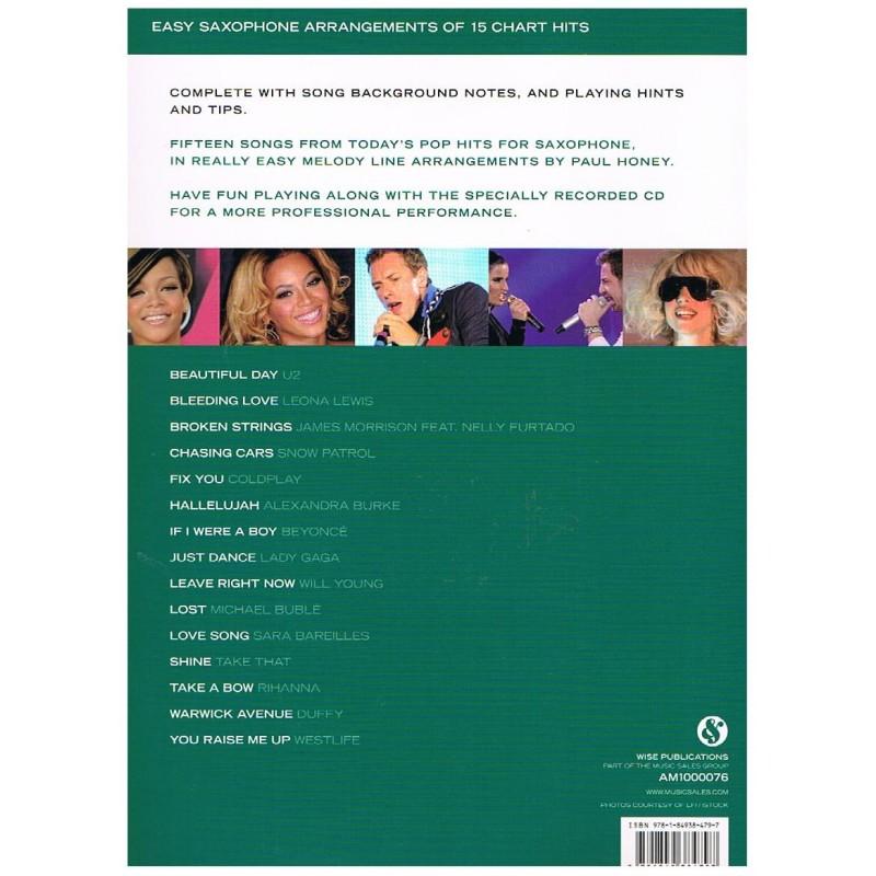 Varios  Really Easy Saxophone  Chart Hits +CD  15 Popular Songs  Wise