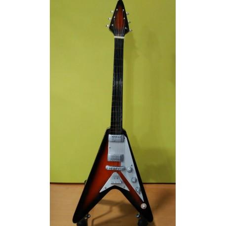 Guitarra Eléctrica Miniatura (25 cms) con Soporte