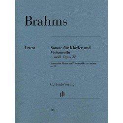 BRAHMS J. - SONATA VIOLONCHELO MI m op38