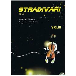 Alfarás. Stradivari Vol.3+CD (Violín)