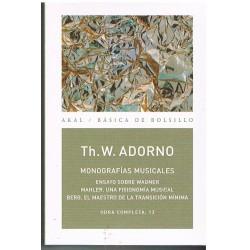 Adorno, Theodor. Monografías Musicales
