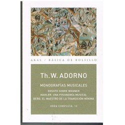 Adorno. Monografías Musicales