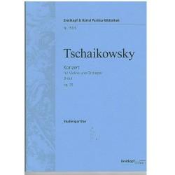 Tchaikovsky. Concierto en Re Mayor Op.35 (Violín y Orquesta). Partitura de Estudio