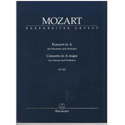 Mozart. Concierto en La Mayor KV.622 Clarinete y Orquesta. Partitura Dirección Bolsillo.