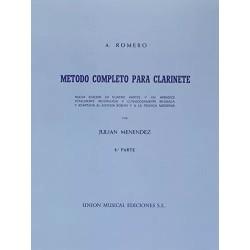 Romero. Metodo de Clarinete...