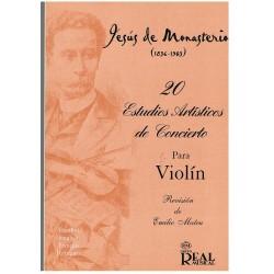 Monasterio. 20 Estudios Artísticos de Concierto Para Violín (Rev. Emilio Mateu)