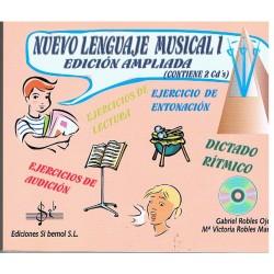 Robles, Gabriel / Robles, Mª Victoria. Nuevo Lenguaje Musical 1 Edición Ampliada +2cd's