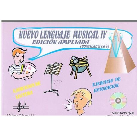 Robles, Gabriel / Robles, Mª Victoria. Nuevo Lenguaje Musical 4 Edición Ampliada +2cd's. Si Bemol
