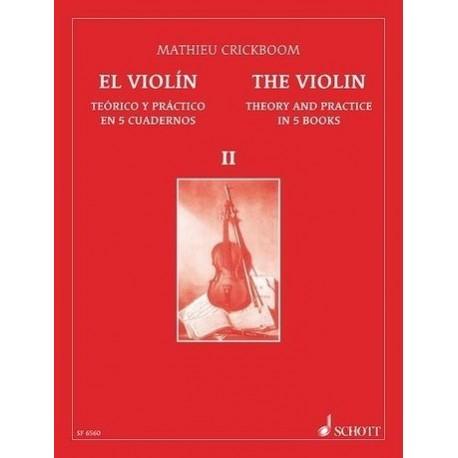 Crickboom, Mathieu. El Violín Teórico Práctico Vol.2. Schott
