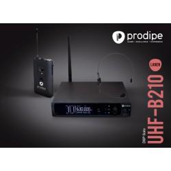 """""""PRODIPE"""" B210 Micrófono de cabeza, petaca y receptor"""