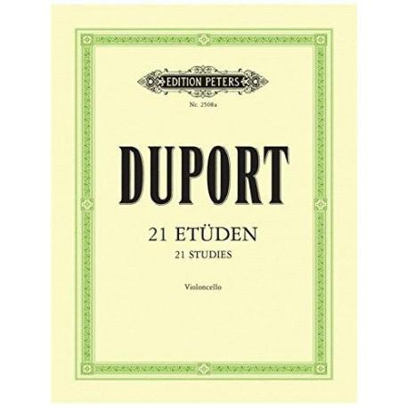 Duport. 21 Estudios Para Violoncello