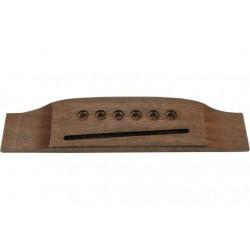 Puente económico de madera para guitarras acústicas de 6 cuerdas (YELLOW PARTS)