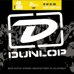 DUNLOP JUEGO BAJO ELEC. NICKEL LIGHT 40-100 Nickel