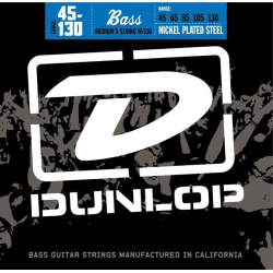 DUNLOP JUEGO BAJO ELEC. NICKEL MEDIUM / 5St. 45-130 Nickel
