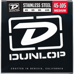 DUNLOP JUEGO BAJO ELEC. STAINLESS STEEL MEDIUM 45-105 Stainless Steel