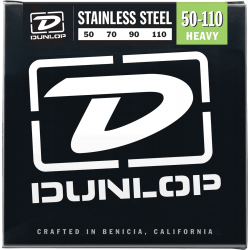 DUNLOP JUEGO BAJO ELEC. STAINLESS STEEL HEAVY 50-110 Stainless Steel
