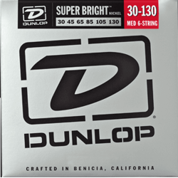 DUNLOP JUEGO BAJO ELEC. SB NICKEL MEDIUM 6St. 30-130 Super Bright