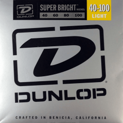 DUNLOP JUEGO BAJO ELEC. SB NICKEL LIGHT 40-100 Super Bright