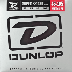 DUNLOP JUEGO BAJO ELEC. SB NICKEL MEDIUM 45-105 Super Bright