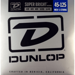 DUNLOP JUEGO BAJO ELEC. SB NICKEL MEDIUM 5St. 45-125 Super Bright