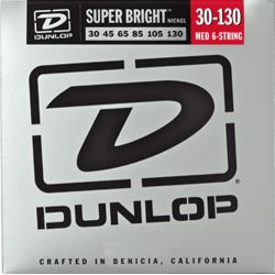 DUNLOP JUEGO BAJO ELEC. SB STEEL MEDIUM 6St. 30-130 Super Bright