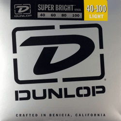 DUNLOP JUEGO BAJO ELEC. SB STEEL LIGHT 40-100 Super Bright