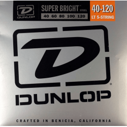 DUNLOP JUEGO BAJO ELEC. SB STEEL LIGHT 5St.40-120 Super Bright