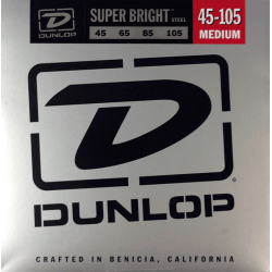 DUNLOP JUEGO BAJO ELEC. SB STEEL MEDIUM 45-105 Super Bright