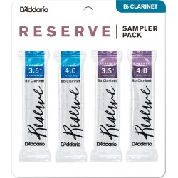 SAMPLER PACK CLARINET - Reserve: 3.5+, 4.0 | Reserve Classic: 3.5+, 4.0 (D'ADDARIO WOODWINDS)