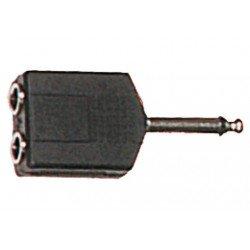 Adaptador de jack macho a jack hembra mono de 6.35 mm (YELLOW CABLES)
