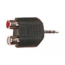 Adaptador de jack macho de 3.5 mm a RCA hembra (YELLOW CABLES)