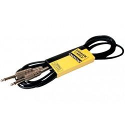Cable de instrumento de 3 metros. Entrada y salida jack metálico (YELLOW CABLES)