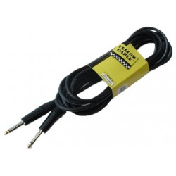 Cable de instrumento de 10 metros de largo. 2 jacks rectos (YELLOW CABLES)
