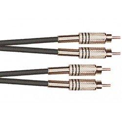 Patch cable de 3 metros de largo. De 2 RCA a 2 RCA (YELLOW CABLES)