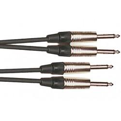 Cable de 3 metros de longitud. 2 jacks mono macho a 2 jacks mono macho (YELLOW CABLES)