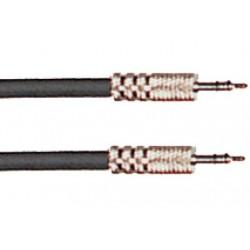Cable de 1 metro de largo. Mini jack stereo macho a mini jack stereo macho (YELLOW CABLES)