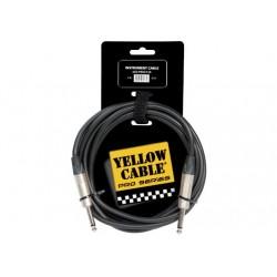 Cable de instrumento de 3 metros de largo. Conectores neutrik. Jack / Jack serie pro (YELLOW CABLES)