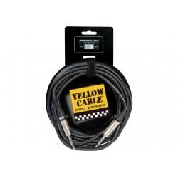 Cable de instrumento de 6 metros de largo. Conectores neutrik. Jack / Jack serie pro (YELLOW CABLES)