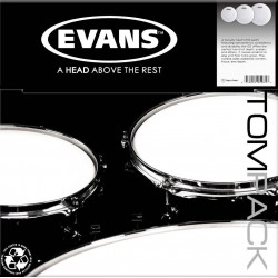 "TOMPACK EVANS BLACK CHROME ROCK (10"".12"".16"") 2 ca (EVANS)"