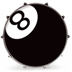 PARCHE BOMBO RESONANTE INKED EVANS GRAPHICS 8 BALL (EVANS)